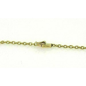Cartier 18k Two Tone Gold Triple Oval Swirl Charm Chain Necklace