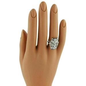 Art Deco 1.15ct Diamond & Sapphire Platinum Long Milgrain Open Filigree Ring