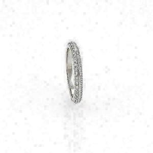 Hearts on Fire Felicity Knife Edge 18k White Gold Band Ring - Size 6.75