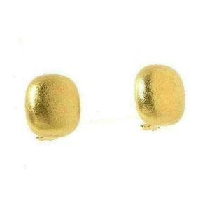Tiffany & Co. 18k Yellow Gold Cushion Dome Shaped Stud Earrings