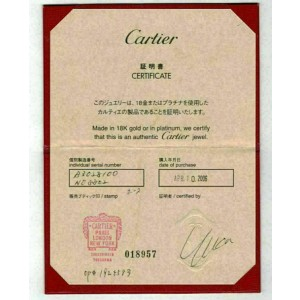 Cartier Diamond Horse Shoe 18k White Gold Charm Pendant w/Certificate