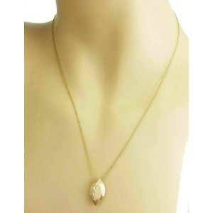 Tiffany & Co. Peretti 18k Yellow Gold Marquise Faceted Cut Pendant