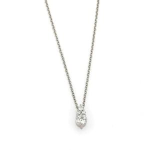 Hearts on Fire Triplicity Diamond 18k White Gold Pendant Necklace