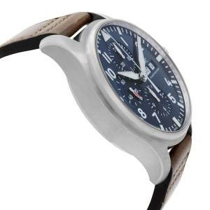 IWC Pilot Midnight Chronograph Blue Arabic Dial Mens Watch IW377714