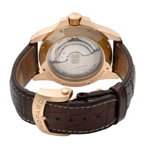 Chopard Mille Miglia GT XL Rose Gold Gray Dial Automatic Mens Watch 161277-5001