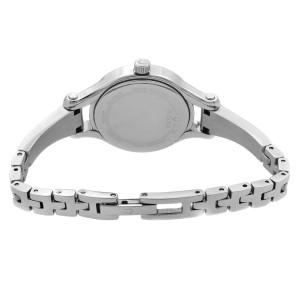 Bulova Crystal Studded Steel Black Dial Quartz Ladies Bangle Watch 96L259