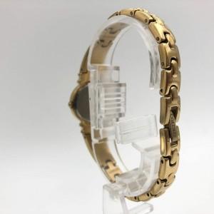 Seiko Dress Champagne Dots Dial Gold Tone Steel Quartz Ladies Watch SUJG34