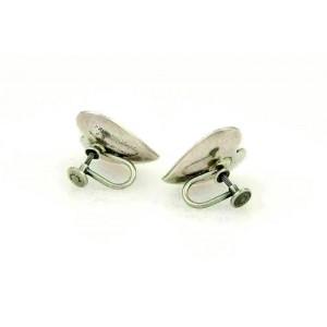 Georg Jensen Vintage 925 Sterling Silver Shell & Heart Earrings & Brooch Set