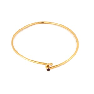 Tiffany & Co. Ruby 14k Yellow Gold Wire Hook Bangle
