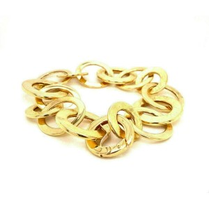 """Assorted Size Ring Link 14k Yellow Gold Bracelet 8.5"""" Long"""
