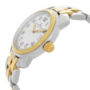 Baume & Mercier Capeland Steel 18k Gold White Dial Quartz Mens Watch MV045215