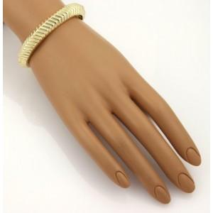 Tiffany & Co. Cordis 18k Yellow Gold Fancy Grooved Design Bangle Bracelet