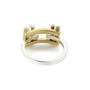 Tiffany & Co Frank Gehry Sterling 18k Gold Axis Flex Band Ring Size 4.5