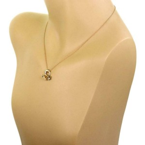 Tiffany & Co. Peretti Vintage 18k Yellow Gold Floral Pendant & Chain