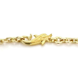 Carrera y Carrera 18k Yellow Gold 8 Dolphin Motif Chain Link Necklace