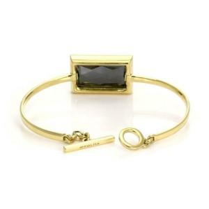 Ippolita Diamond Rutilated Hematite 18k Yellow Gold Toggle Bangle Bracelet