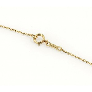 Tiffany & Co. Peretti 18k Yellow Gold Curved Leaf Pendant & Chain Necklace