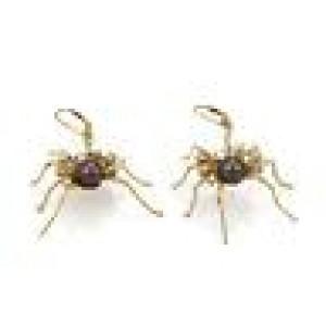 Estate 2ct Diamond Tahitian Pearl 14k Yellow Gold Large Spider Drop Earrings