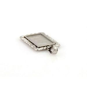 Platinum 999.5 Liberty Maxi Gram Bar Platinum Frame Plate Pendant