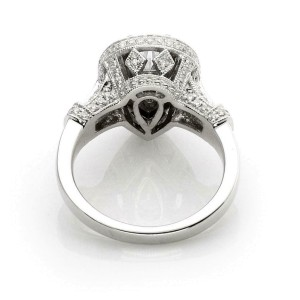 New Pear Cut 1.33ct Solitaire F SI2 Diamond w/Accent 14k Gold Ring GIA Cert