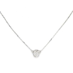 Cartier Scarab Diamond 18k White Gold Beetle Pendant & Chain w/Paper