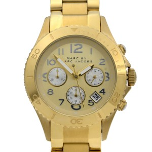 Marc by Marc Jacobs Chronograph Yellow Gold Tone Steel Ladies Watch MBM3188