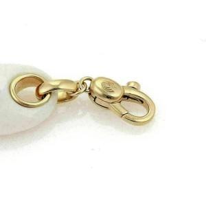 Valente 18k Yellow Gold Diamond & White Agate Charm Pendant