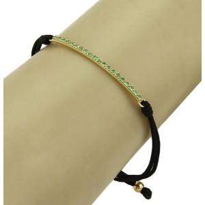 Tiffany & Co. Tsavorite Metro Bar Cord & 18k Yellow Gold Bracelet