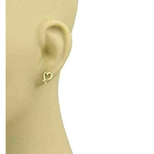 Tiffany & Co. Picasso Loving Heart Stud 18k Yellow Gold Earrings