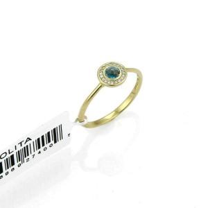 Ippolita Lollipop London Blue Topaz & Diamond 18k Gold Mini Ring