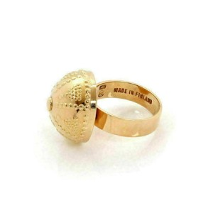 Finland 14k Pink Gold Fancy Dome Ring