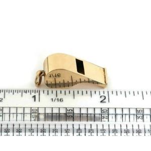 Vintage 14k Yellow Gold Whistle Charm Pendant