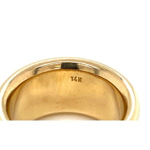 Health & Happiness 14k Yellow Gold Sterling Silver Hebrew Pray Ring