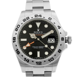 Rolex Explorer II Stainless Steel Black Dial Automatic Mens Watch 216570BKSO