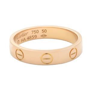 Cartier 18K Rose Gold Love Wedding Band Size 50