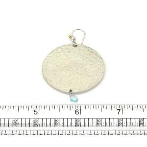Gurhan Lush Blue Topaz Sterling Silver Large Flake Disc Dangle Earrings