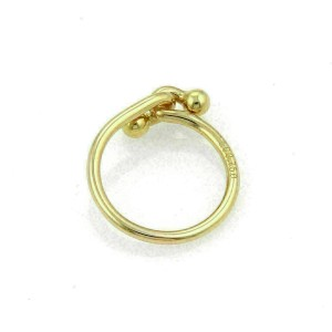 Tiffany & Co. 18k Yellow Gold Double Hook Band Ring