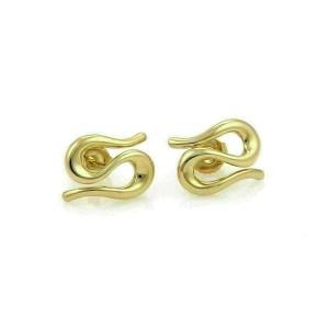 Tiffany & Co. Peretti Snake Stud 18k Yellow Gold Earrings