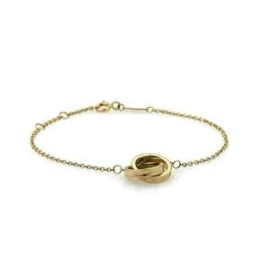 Tiffany & Co. 1837 Interlaced Ring Charm 18k Rose Gold Bracelet