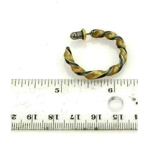 Gurhan Midnight Sterling & 24k Gold Twisted Hoop Earrings Rt. $2,250