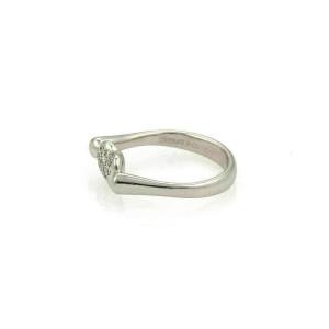 Tiffany & Co. Peretti Diamonds Platinum Mini Bean Ring
