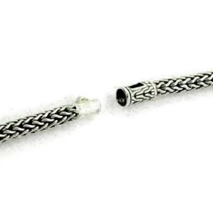 John Hardy 3 Bead Dot Sterling Silver 18k Yellow Gold Enhancer Pendant Necklace