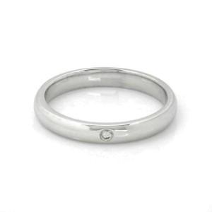 Tiffany & Co. Peretti 1 Diamond Platinum 2.5mm Wedding Band Ring