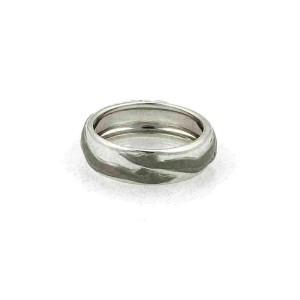 Carrera y Carrera Adam & Eve 18k White Gold 6.5mm Band Ring