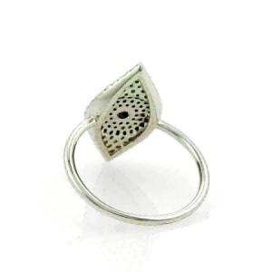 Diamonds & Sapphire Good Luck Eye 14k White Gold  Band Ring