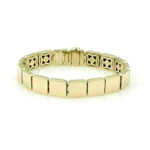 Tiffany & Co. 18k Yellow Gold Solid Square Link Bracelet