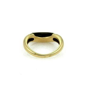 Cartier Diamond & Onyx 18k Yellow Gold Stack Band Ring Size 49