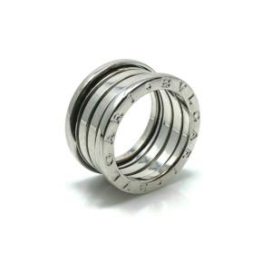 Bvlgari B.zero1 Four Band 18k White Gold Ring Size 52