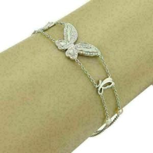 Victoria Casal Fly Me Diamonds & MOP 18k Gold Butterfly Bracelet Rt. $2,950