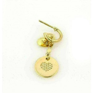 Pasquale Bruni Amore Diamond 18k Yellow Gold Hearts Round Dangle Earrings $3,520